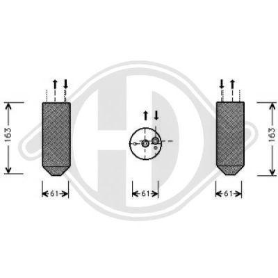 Filtre déshydratant, climatisation - Diederichs Germany - 8169001