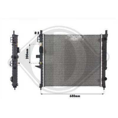 Radiateur, refroidissement du moteur - Diederichs Germany - 8169005