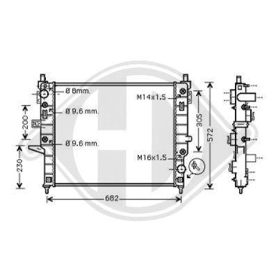 Radiateur, refroidissement du moteur - Diederichs Germany - 8169006