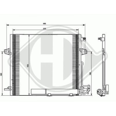 Condenseur, climatisation - Diederichs Germany - 8169100