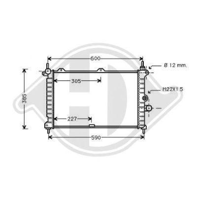Radiateur, refroidissement du moteur - Diederichs Germany - 8180405