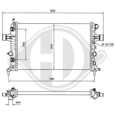 Radiateur, refroidissement du moteur - HDK-Germany - 77HDK8180500