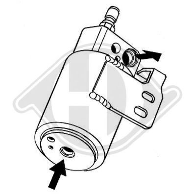 Filtre déshydratant, climatisation - Diederichs Germany - 8180501