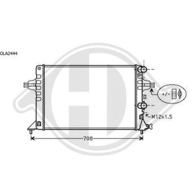 Radiateur, refroidissement du moteur - Diederichs Germany - 8180503