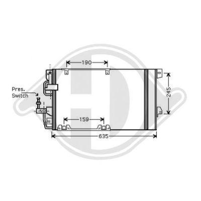 Condenseur, climatisation - Diederichs Germany - 8180505
