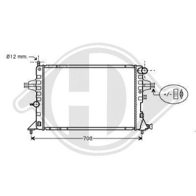 Radiateur, refroidissement du moteur - Diederichs Germany - 8180506