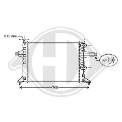 Radiateur, refroidissement du moteur - Diederichs Germany - 8180507