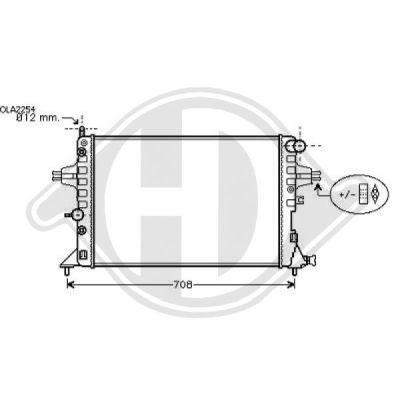 Radiateur, refroidissement du moteur - Diederichs Germany - 8180508