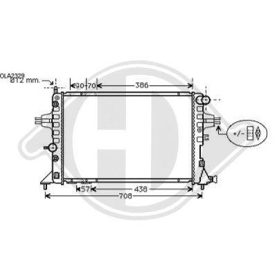 Radiateur, refroidissement du moteur - HDK-Germany - 77HDK8180509