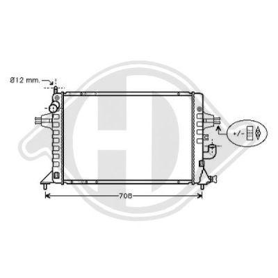 Radiateur, refroidissement du moteur - Diederichs Germany - 8180550