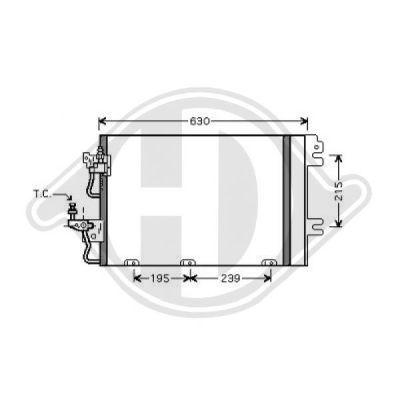 Condenseur, climatisation - Diederichs Germany - 8180600
