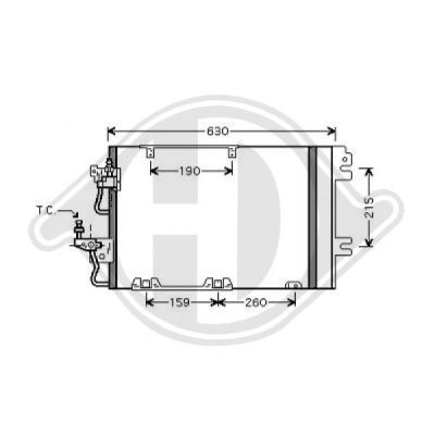 Condenseur, climatisation - Diederichs Germany - 8180601