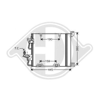 Condenseur, climatisation - Diederichs Germany - 8180602