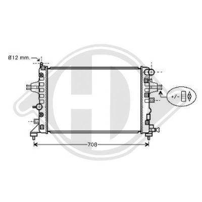 Radiateur, refroidissement du moteur - Diederichs Germany - 8180603