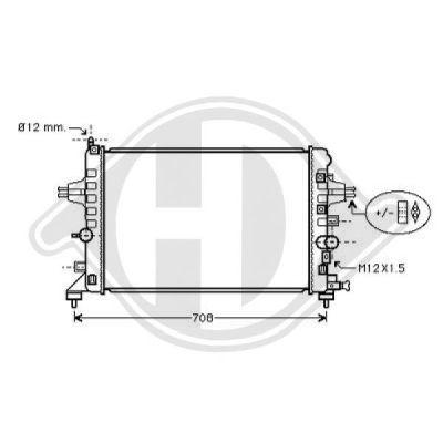 Radiateur, refroidissement du moteur - Diederichs Germany - 8180604