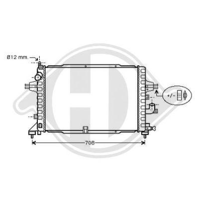 Radiateur, refroidissement du moteur - Diederichs Germany - 8180605