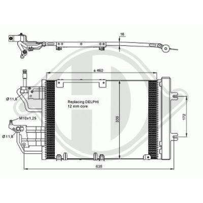 Condenseur, climatisation - Diederichs Germany - 8180606