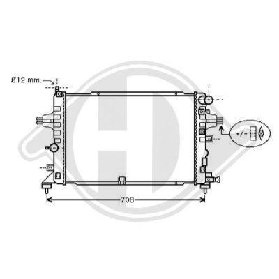 Radiateur, refroidissement du moteur - Diederichs Germany - 8180607