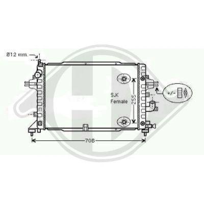 Radiateur, refroidissement du moteur - Diederichs Germany - 8180608