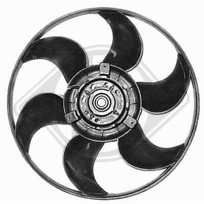 Ventilateur, refroidissement du moteur - Diederichs Germany - 8180611