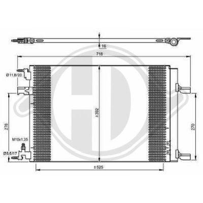 Condenseur, climatisation - Diederichs Germany - 8180700