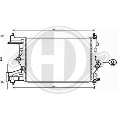 Radiateur, refroidissement du moteur - Diederichs Germany - 8180704