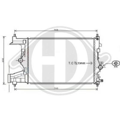 Radiateur, refroidissement du moteur - Diederichs Germany - 8180705