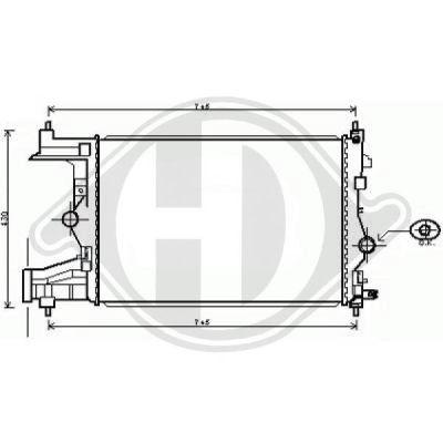 Radiateur, refroidissement du moteur - Diederichs Germany - 8180706