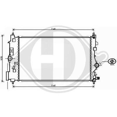 Radiateur, refroidissement du moteur - Diederichs Germany - 8180707