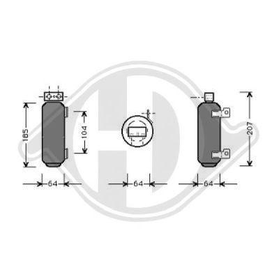 Filtre déshydratant, climatisation - Diederichs Germany - 8181201