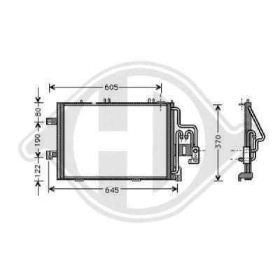 Condenseur, climatisation - Diederichs Germany - 8181300