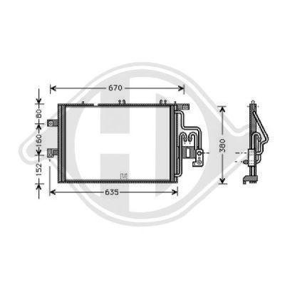Condenseur, climatisation - Diederichs Germany - 8181301