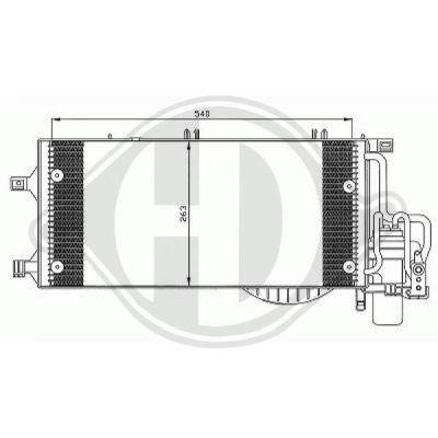 Condenseur, climatisation - Diederichs Germany - 8181302