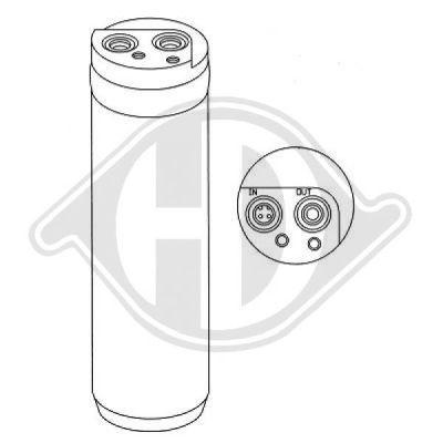 Filtre déshydratant, climatisation - Diederichs Germany - 8181303