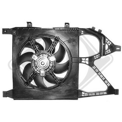 Ventilateur, refroidissement du moteur - Diederichs Germany - 8181304