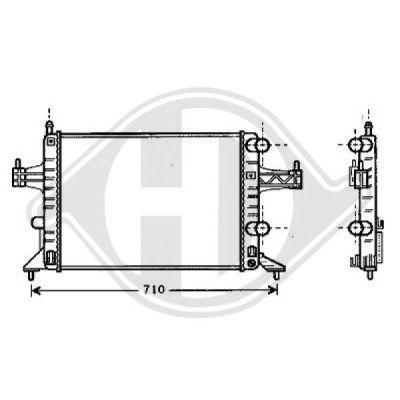 Radiateur, refroidissement du moteur - Diederichs Germany - 8181305