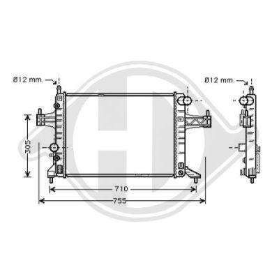 Radiateur, refroidissement du moteur - Diederichs Germany - 8181307