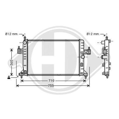 Radiateur, refroidissement du moteur - Diederichs Germany - 8181309