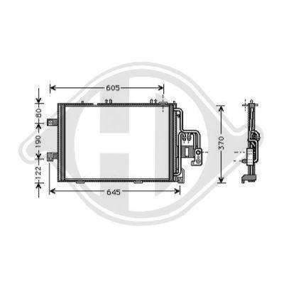 Condenseur, climatisation - Diederichs Germany - 8181310