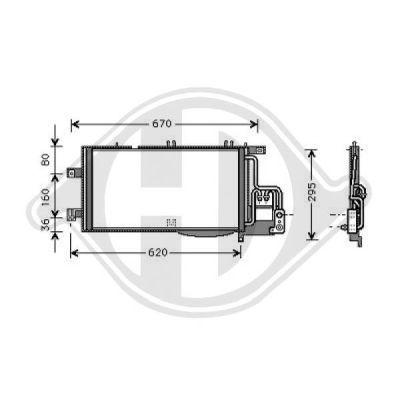 Condenseur, climatisation - Diederichs Germany - 8181311