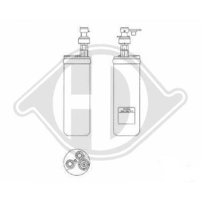 Filtre déshydratant, climatisation - Diederichs Germany - 8181312