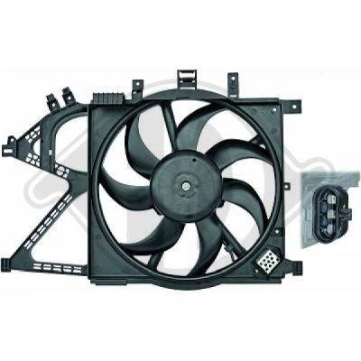 Ventilateur, refroidissement du moteur - Diederichs Germany - 8181313