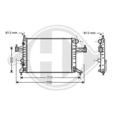 Radiateur, refroidissement du moteur - Diederichs Germany - 8181315