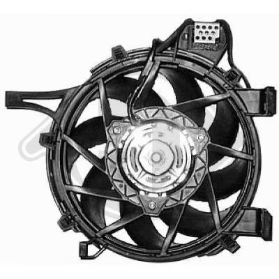 Ventilateur, refroidissement du moteur - Diederichs Germany - 8181316