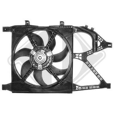 Ventilateur, refroidissement du moteur - Diederichs Germany - 8181317