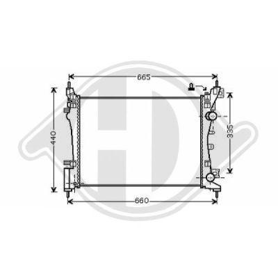 Radiateur, refroidissement du moteur - Diederichs Germany - 8181405