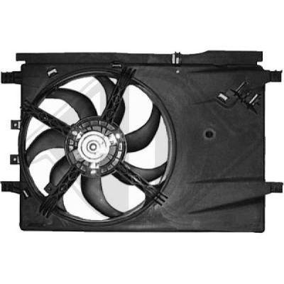 Ventilateur, refroidissement du moteur - Diederichs Germany - 8181406