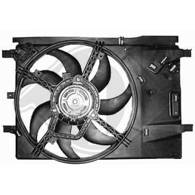 Ventilateur, refroidissement du moteur - Diederichs Germany - 8181408