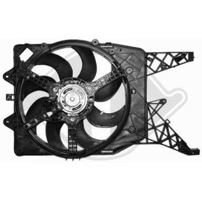 Ventilateur, refroidissement du moteur - Diederichs Germany - 8181410