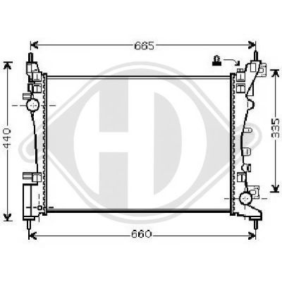 Radiateur, refroidissement du moteur - HDK-Germany - 77HDK8181417